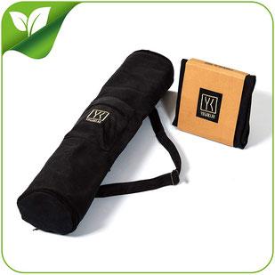 Yogatasche mit Reißverschluss und Verlängerung für große Matten und Zubehör – STARTKLAR FÜR Yoga!