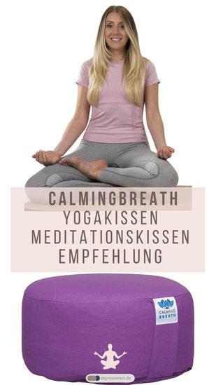 CalmingBreath Yoga Meditationskissen Yogakissen - Empfehlung