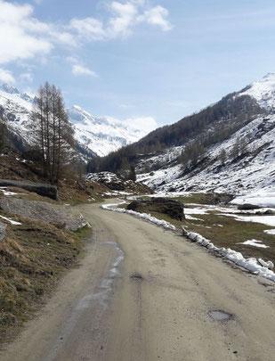 Sentiero che da Casere porta alla Malga Kehrer