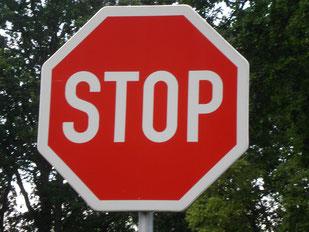 Stopp! Meine Behandlung ersetzt keine fachärztliche Betreuung!