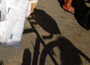 mein Rad-Schatten auf dem Markt