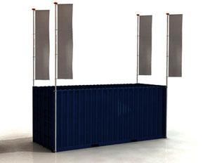 Container Fahnenmast Containermast