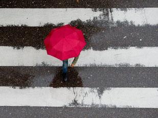 Der Zebrastreifen räumt Fußgängern den Vorrang vor Autos ein. Sie müssen dort trotzdem aufpassen. Foto: Sebastian Kahnert