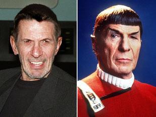 Leonard Nimoy (1995 und 1988 als «Mr. Spock») ist tot. Fotos: dpa Foto: DB