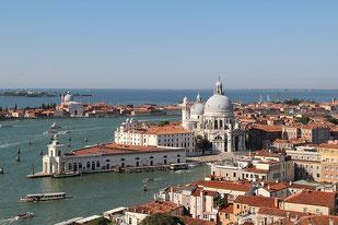 Die Lagunen von Venedig Ansicht von oben