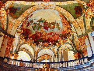 die Ausmalung erfolgte von Battista Tiepolo