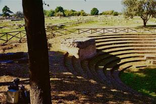 das wiederhergestellte Amphitheater