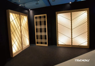 リビング&デザインブースでの「HOKUSAI」展示