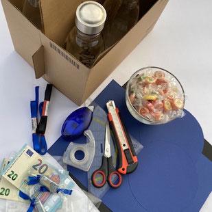 Materialien für Geldgeschenk zur Jugendweihe oder zum Geburtstag