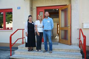 Projektleiterin Lilijana Maric, Hausverantwortliche Claudia Greilberger-Draxl und Projektleiter Martin Wiener