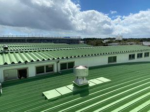 千葉食品工場折板屋根10800㎡熱交換塗料2020:8