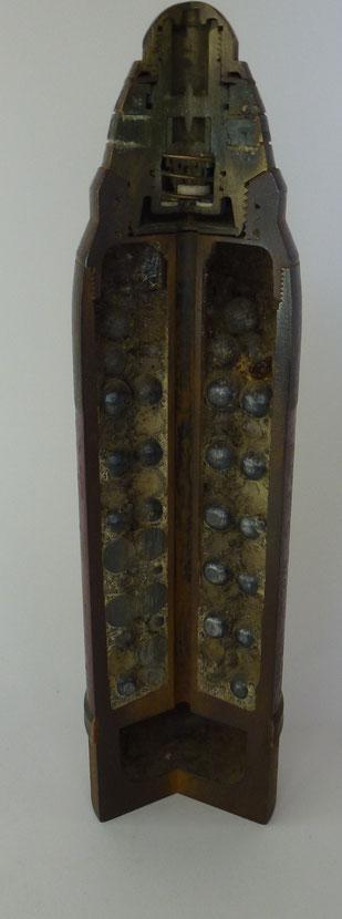 ogive didactique shrapnel 75 mm saint chamond TR