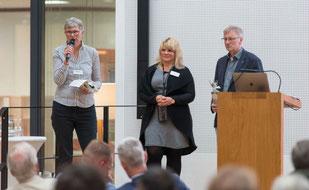 Gabi Kleen (RPZ Aurich) (von links), Jana Bunger-Pfeiffer (Landkreis Leer) und Dr. Jelko Peters (Studienseminar Leer) erstellten das Programm mit ihren Teams. Foto: Landkreis Leer