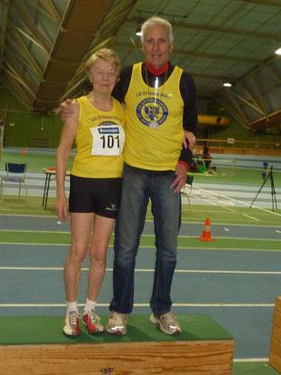 Das erfolgreiche Duo des SC Önsbach Peter Lessing und Elfriede Hodapp