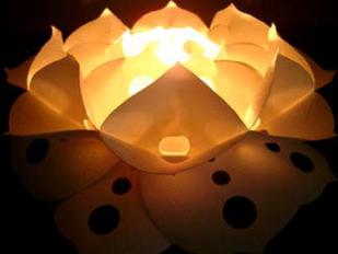 「蓮明り」(和紙, 銅)/2006【写真2】