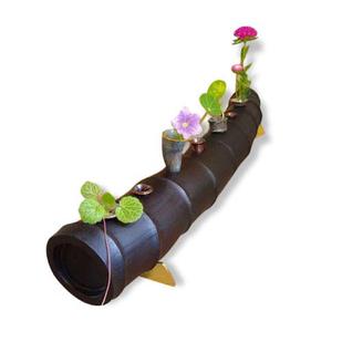 「花器」(竹,漆,銀,銅)/2005【写真1】