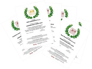 """Attestati """"Azienda dell'Anno"""" e """"Azienda Eccellente"""" dei Sales Excellence Awards. Termine per le candidature aziendali: 30 aprile 2020."""