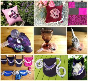 Von Herz und Hand, handgemachte Lavendelkissen, Patchworktaschen, Bauchtaschen, Deckchen, Unikate von Brigitte Helbig in Stegen