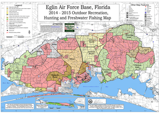 map of different zones & subcompartments on Eglin AFB