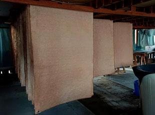 乾燥(柿渋和紙)