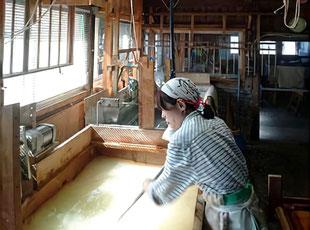 漉き舟作り