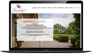 Website Linslerhof.de Saarlouis sichtbar in Laptopmonitor