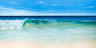 'The Wave – North Cottesloe' | 1600x800mm | Acrylics on Canvas