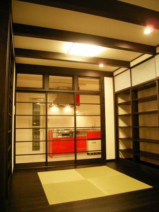 床暖房 畳スペース 黒書院風