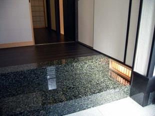 足元照明 石の式台