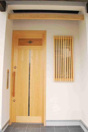 和の玄関 式台 ガラスブロック