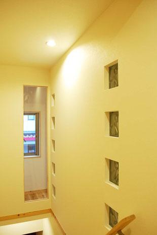 階段ガラスブロック