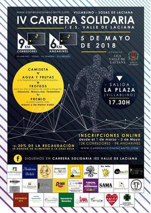 IV CARRERA SOLIDARIA I.E.S. VALLE DE LACIANA - Villablino, 05-05-2018