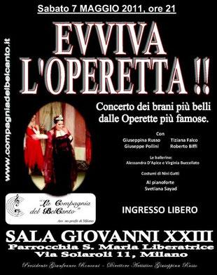 EVVIVA L'OPERETTA !! – Milano, 7/05/11