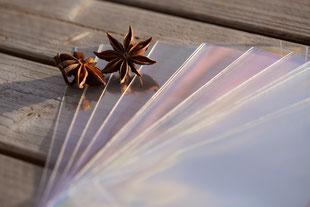 Cellophanhüllen für Karten, offen, C6 118 x 167 mm, von Artoz, Cellophanbeutel, Flachbeutel, Schutzhüllen für Karten