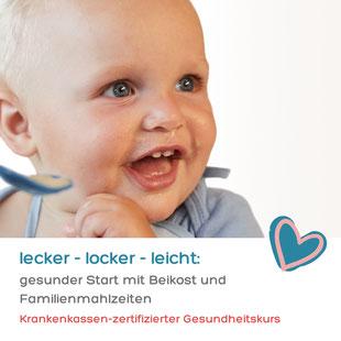 Online Ernährungskurs: Beikost und Familienmahlzeiten. Krankenkassen-zertifiziert, bis zu 100% Zuschuss!