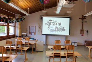 Festinstallation von Medien in einem Klassenzimmer durch Joel3, Veranstaltungstechnik Allgäu