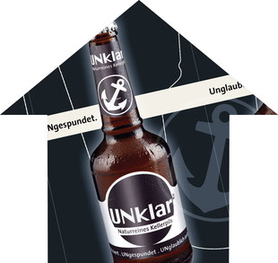 Bier Kampagne Aktionen Konzept CD Logo Etiketten Bier Getränke