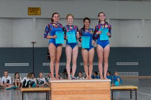 Siegerehrung - unsere Jugendturnerinnen