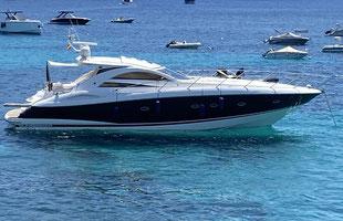 Motorboot Sunseeker 53 mieten abe Hafen Andratx Mallorca