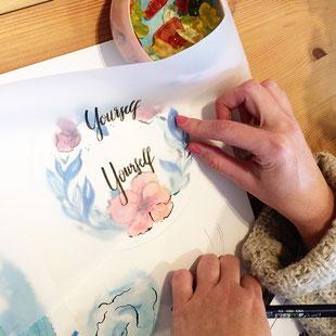 Berlin, Aquarellfloral watercolor, workshop Berlin, malen lernen Berlin, Skizzenbuch, Berlin, florale Aquarelle, Blumen malen, botanische Aquarelle, youdesignme, Pflanzenliebhaber, handlettering