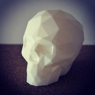 Crâne polygonal pour moulage silicone