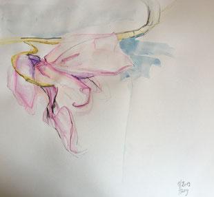 Orchid 2, Aquarell, 27cmx27cm, 2019