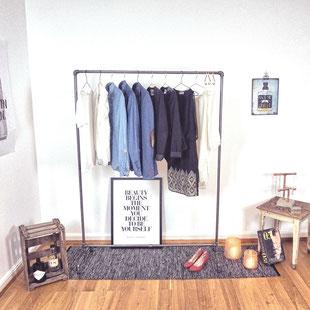 Kleiderständer aus Rohren von The Upcycle Store