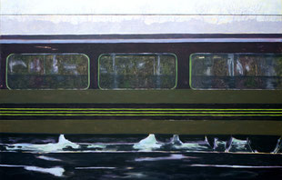 Eissturm, Waggon, 2009, Öl auf Leinwand, 150 x 190 cm
