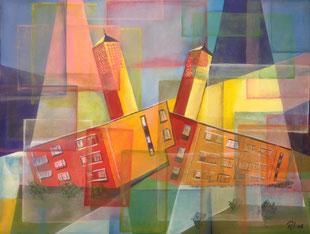 Am Marienturm, Acryl / 80 cm x 60 cm / Leinwand