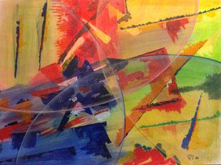 Ohne Titel, Acryl (60 cm x 50 cm) / Leinwand