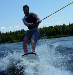Wake-surfing (minus the surfing part)