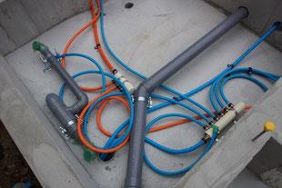 給水管(上水道)と排水管(下水道)の工事