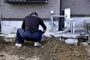 排水管(下水道)の引き直し工事