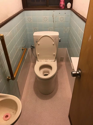 和式トイレを洋式トイレへ